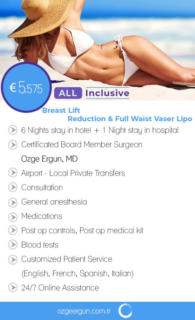 Breast Lift Reduction Vaser Lipo All Inclusive Package