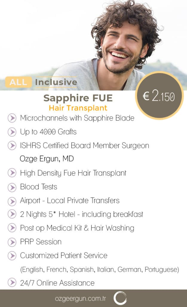 Sapphire Fue Hair Transplant Surgery All Inclusive
